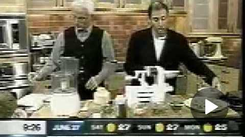 Raw Food Author Paul Nison, giving a raw food prep class on TV in Canada