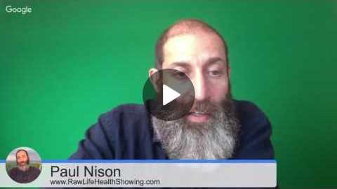 Raw Food Q&A Health Hangout with Paul Nison Thursday