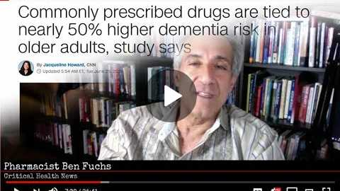 Pharmacist Ben Fuchs: Commonly Prescribed Drugs Higher Dementia Risk