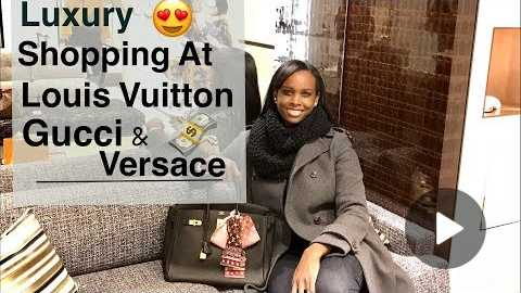 VLOG | Luxury Shopping At Louis Vuitton | Gucci & Versace | TheLuxeBabe