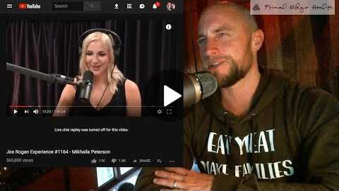 Joe Rogan, Mikhaila Peterson on CARNIVORE DIET | what it means, WHY IT MATTERS, commentary/response