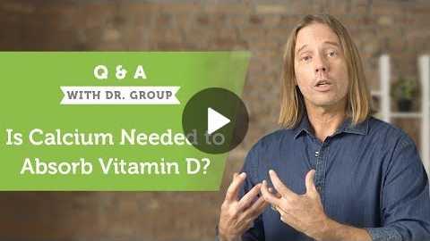 Calcium to Absorb Vitamin D