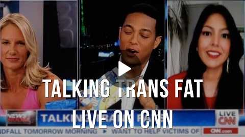 Vani Hari aka Food Babe on CNN Live Talking Trans Fat