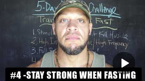 STRENGTH TRAINING For Fasters [video #4]